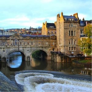 The Pulteney Bridge in Bath, England