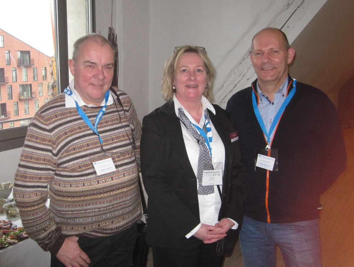 Hotels Hafnia´s Sunniva Arge (middle) can present a new hotel with 19 new Nordic rooms. Peter Morell, Arctic Adventure, brought the new owner and CEO of the company Jens Christian Hildestad. They started working together with Chinese tourists to Greenland.