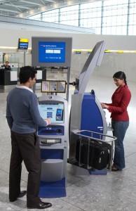 Airport check in kiosk