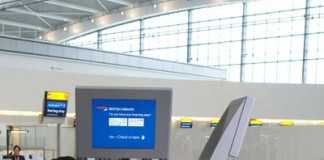 Airport check in kiosk