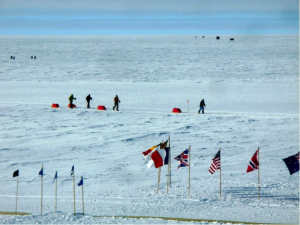 South Pole Skiers in Antartica