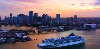 Norwegian Sky departs Miami